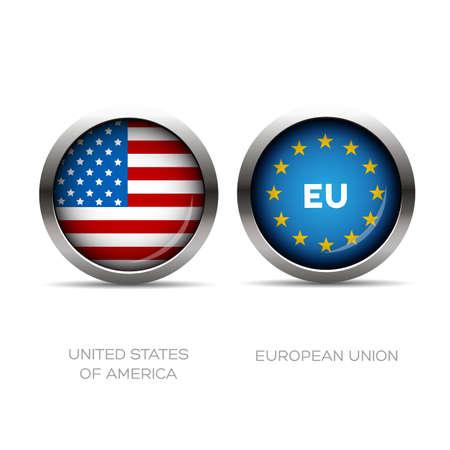eu: Usa and Eu flag button
