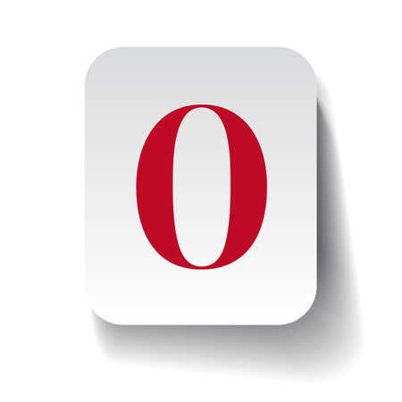 number zero: Number zero label Illustration