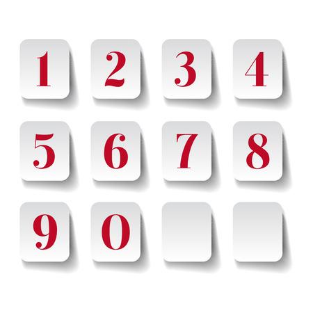 Numbers set. Vector illustration. Ilustrace