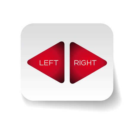 Vector left and right arrows Vector