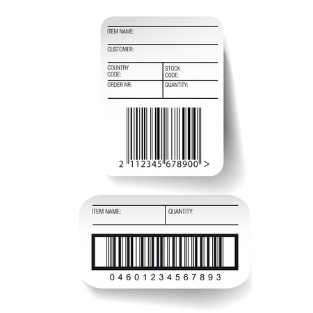 label sticker: Barcode label template vector