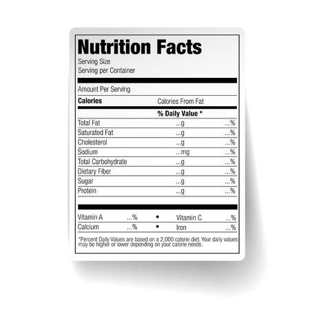영양 식품 라벨