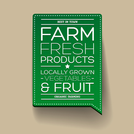 Farm fresh product label Vector