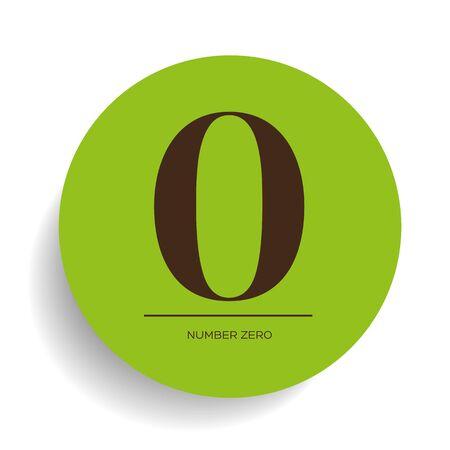 number zero: Number zero vector