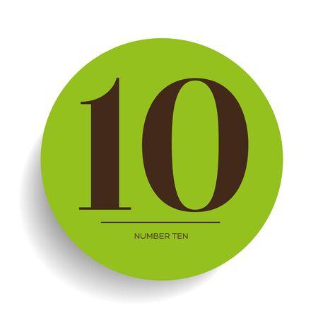 numero diez: Número diez vector