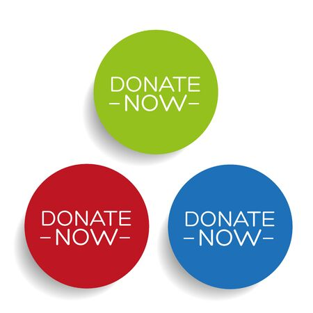 Donate now label vector