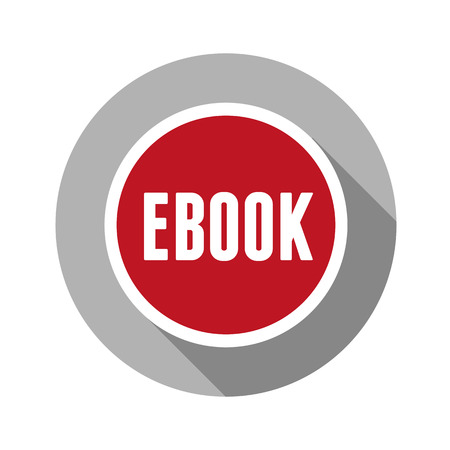 elettronic: Ebook icon button red Illustration
