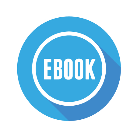 elettronic: Ebook icon button blue