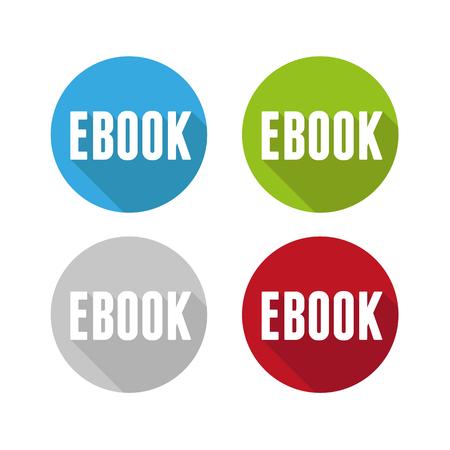icona: Ebook icon button set Illustration
