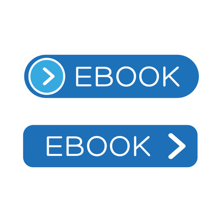 Ebook icon button blue