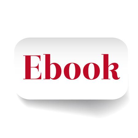 elettronic: Ebook label vector