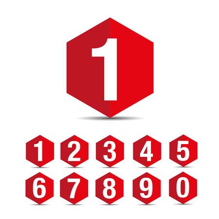 Number set vector Banco de Imagens - 37176307