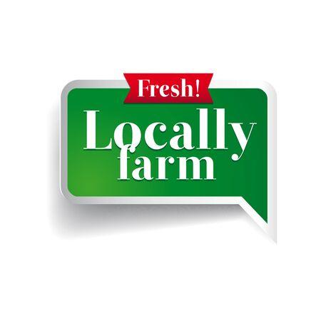 preservatives: Etiqueta de los alimentos Granja, insignia o sello