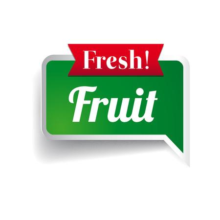 Fresh fruit, badge or seal