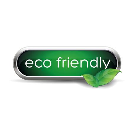 eco friendly: Eco friendly button green