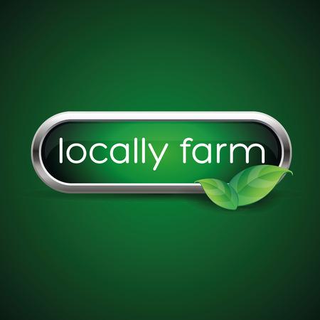 handmade soap: Local farm food label, badge or seal Illustration