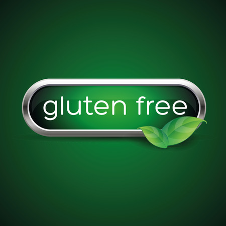 celiac: Gluten free button or label