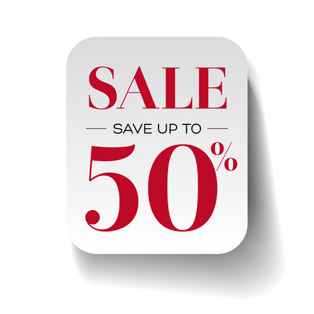 fifty: Sale fifty percent label