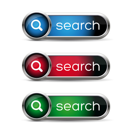 search button: Search button isolated on white Illustration