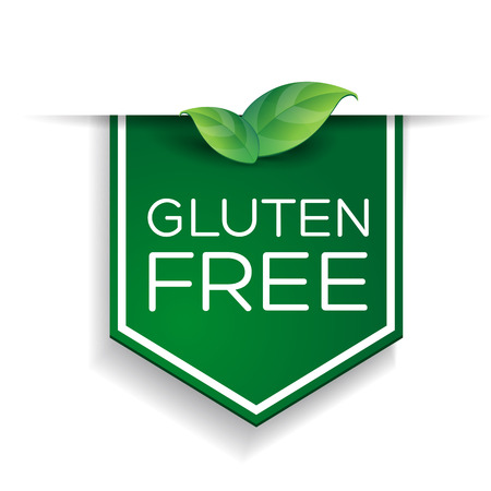 Glutenvrij label Stock Illustratie