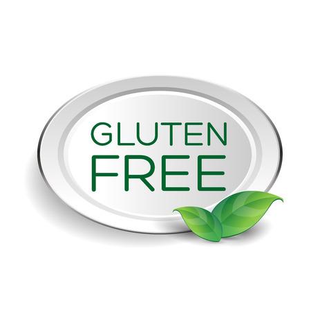 sprue: Gluten free label or button Illustration