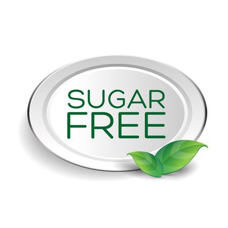 bleached: Sugar free label or badge