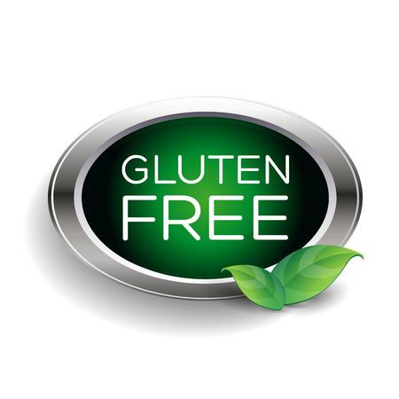 sprue: Gluten free label or badge