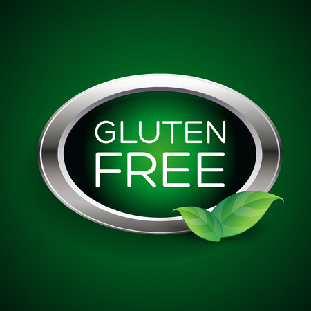 gluten: Gluten free label or badge
