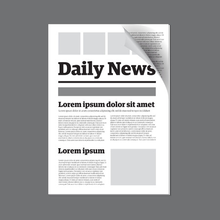 daily newspaper: Daily newspaper Illustration