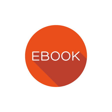 elettronic: Ebook icon button flat design Illustration