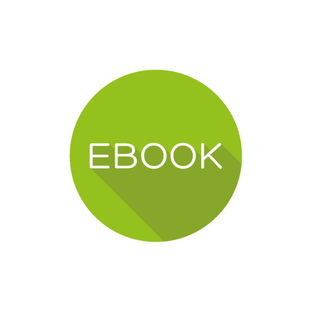 Ebook icon button flat design Vettoriali