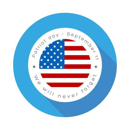 patriot day. us seal and banner illustration design Ilustrace