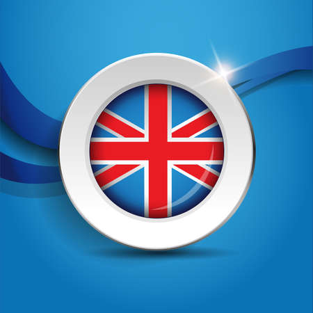 kingdom: Vector flag button - United Kingdom