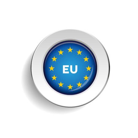 eu flag: EU flag button