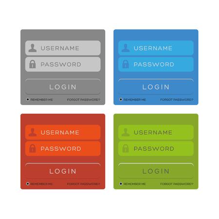 password security: Vector login interface - password, security