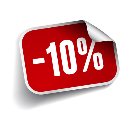 Sale percents label. Vector. Illustration