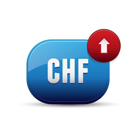 frank szwajcarski: Waluta CHF - frank szwajcarski Ilustracja