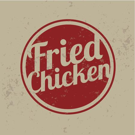 pollo rostizado: Clásico del estilo de Fried Chicken Sellos