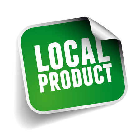 Local product label sticker