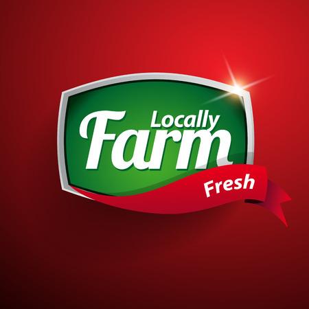 handmade soap: Farm food label, badge or seal Illustration