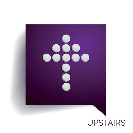 upstairs: Arrow upstairs
