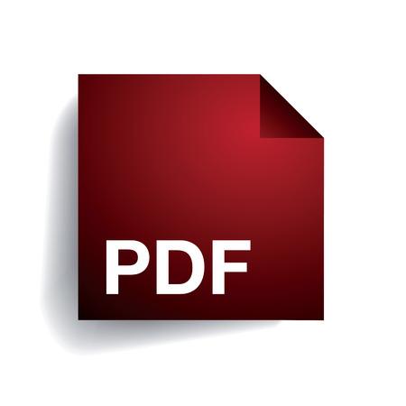 PDF 파일 폴더 아이콘 일러스트