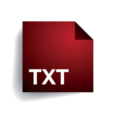 avi: Txt folder icon Illustration