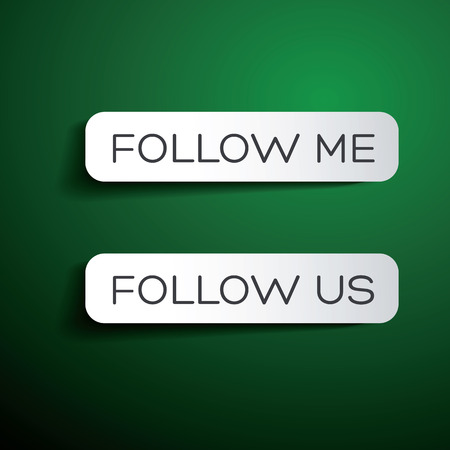 follow: Follow me and follow us labels