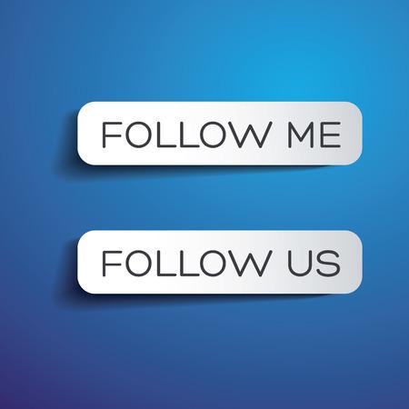 follow me: Follow me and follow us labels
