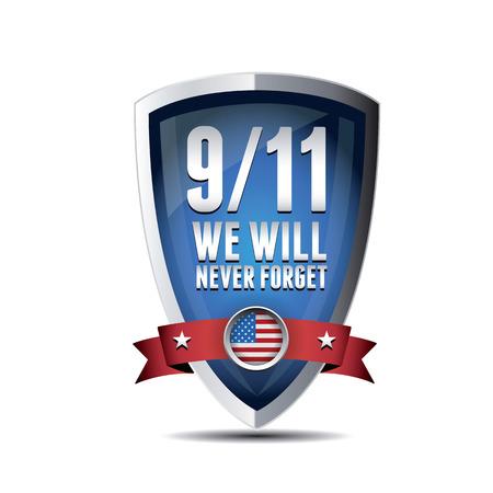 911 の愛国者の日、2001 年 9 月 11 日。決して忘れない。