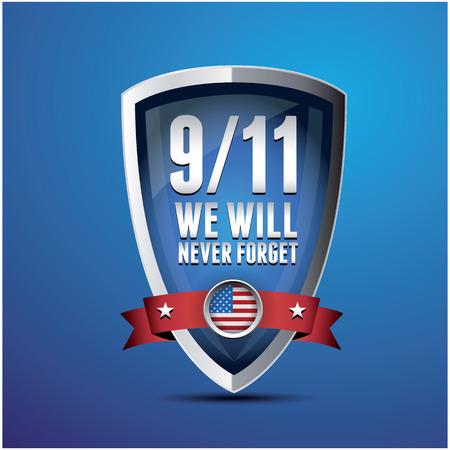 9/11 Patriot Day, September 11, 2001. Never Forget. Banco de Imagens - 37293071