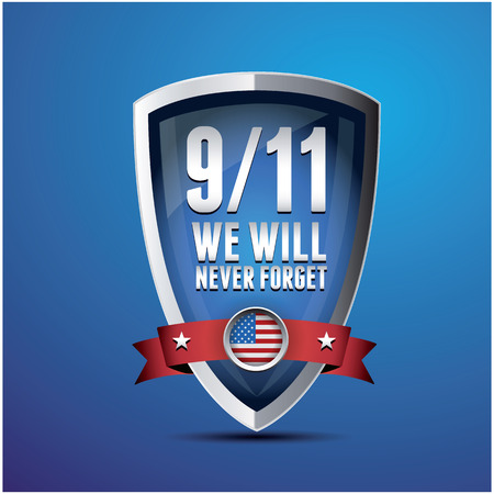 911 Patriot Day, September 11, 2001. Never Forget. Vector