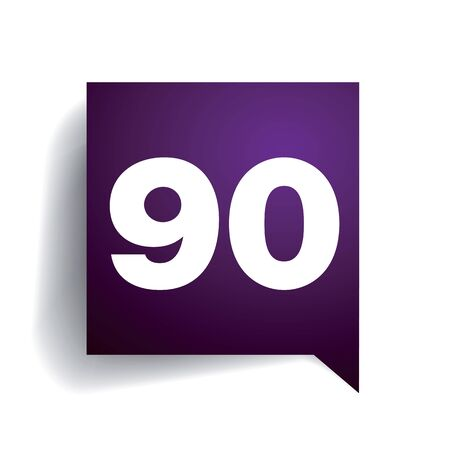 safer: Number ninety speech bubble