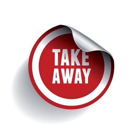 take: Take away sticker label